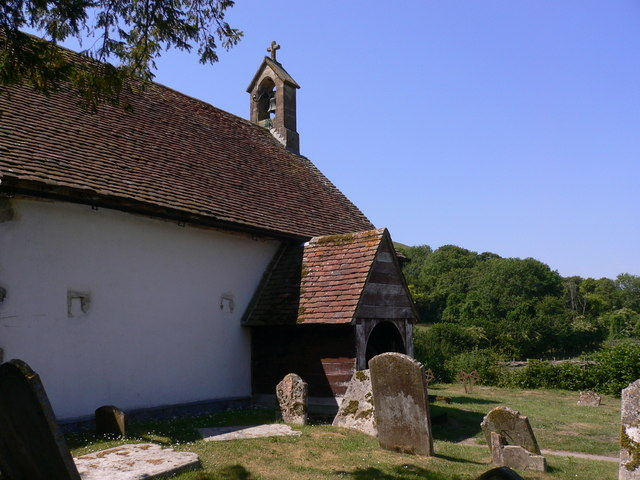 Approach to the church porch at Didling