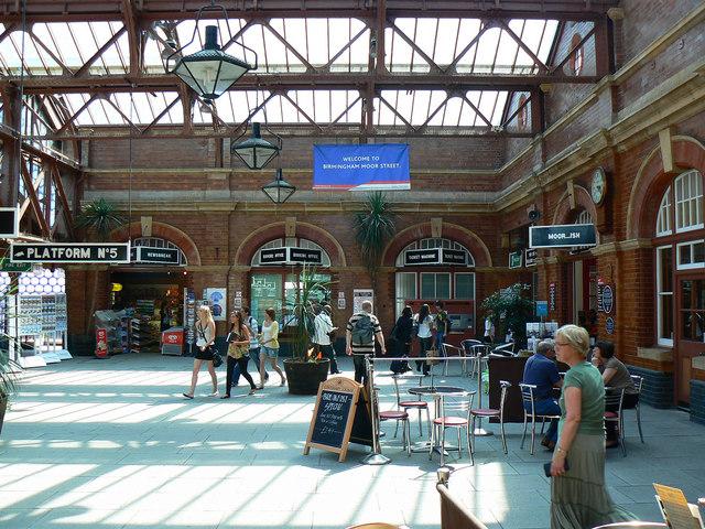 Inside Moor Street Station, Birmingham