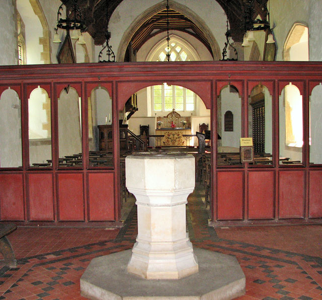 St Mary's church in Anmer - Victorian baptismal font