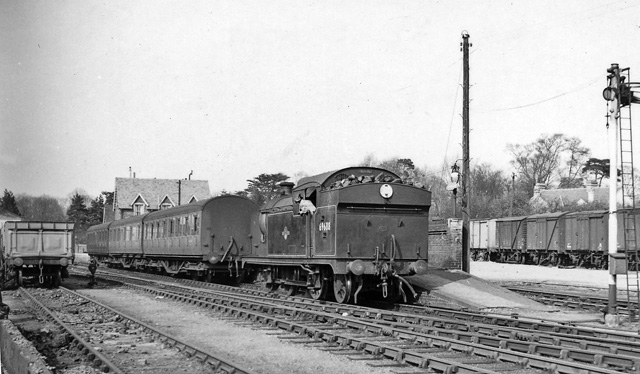 Buntingford Station, with train