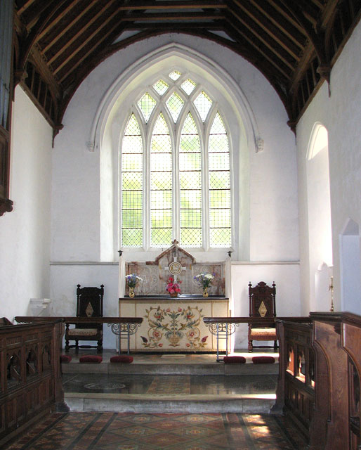 St Mary's church in Anmer - the chancel