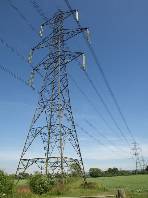 Pylons on Alney Island
