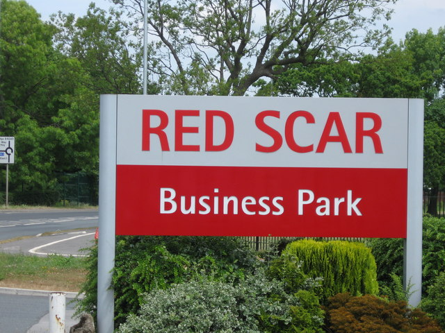 Red Scar Business Park sign
