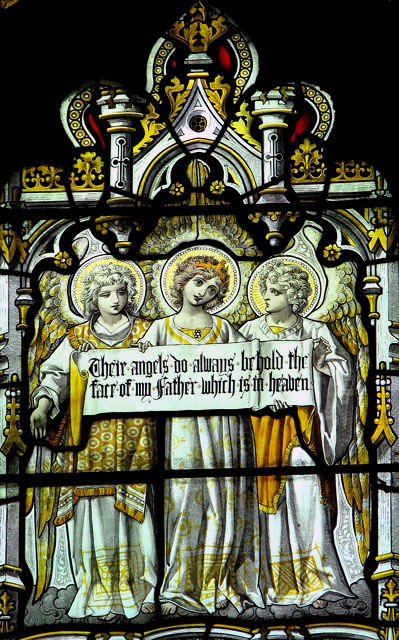 St Mary's church in Anmer - west window (detail)