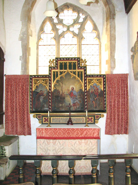 St Mary's church in Anmer - south chapel altar