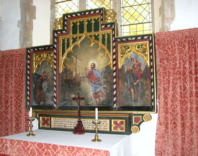 St Mary's church in Anmer - south chapel altar (reredos)