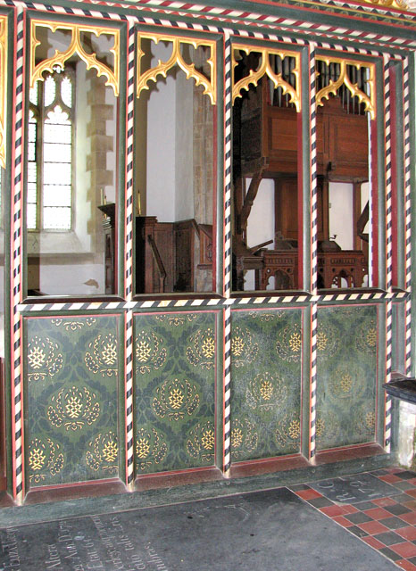 St Mary's church in Anmer - parclose screen