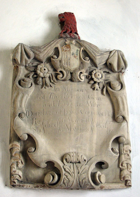 St Mary's church in Anmer - C18 memorial