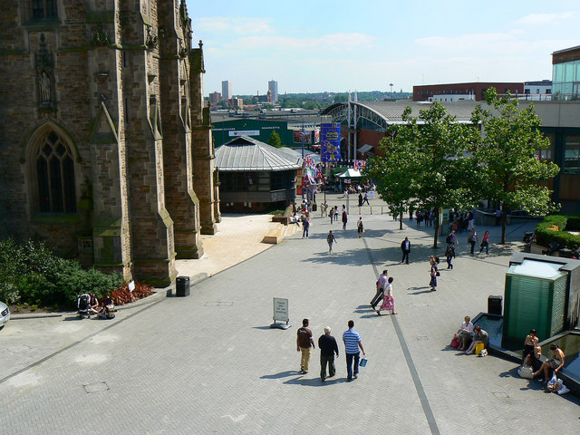 View south from Lord Nelson's statue, Birmingham