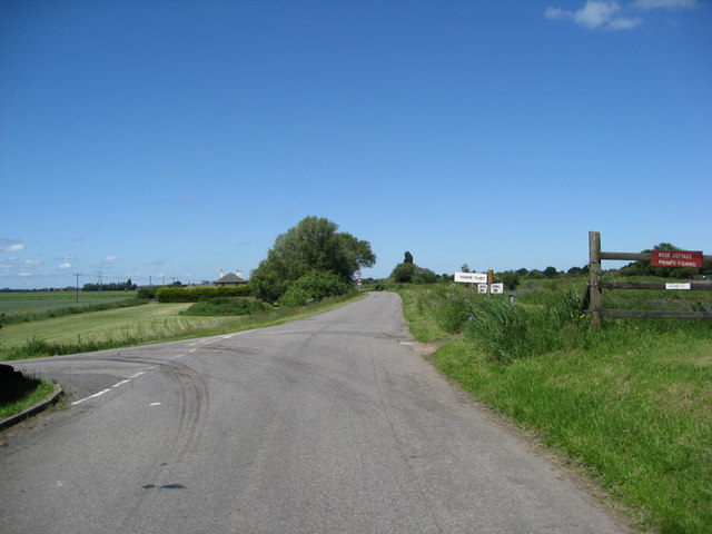 Thorpe Tilney Drove junction with Witham Bank