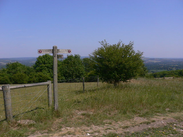 Byway signpost on the South Downs Way