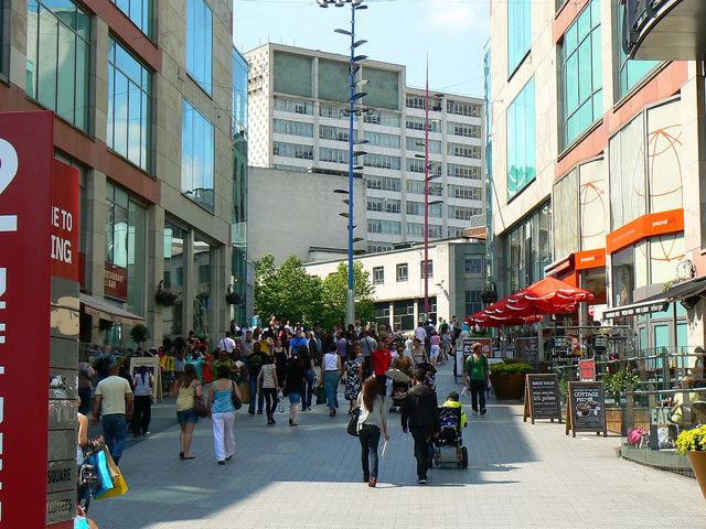 View towards New Street, Birmingham