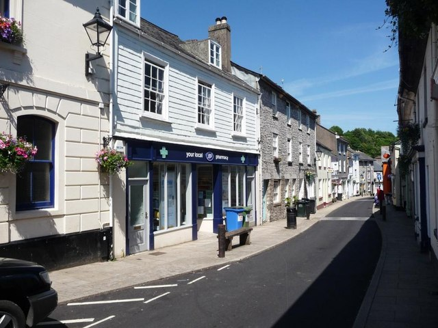 North side of Fore Street, Buckfastleigh