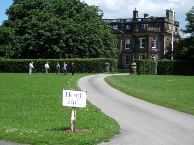Heath conservation village - driveway to Heath Hall