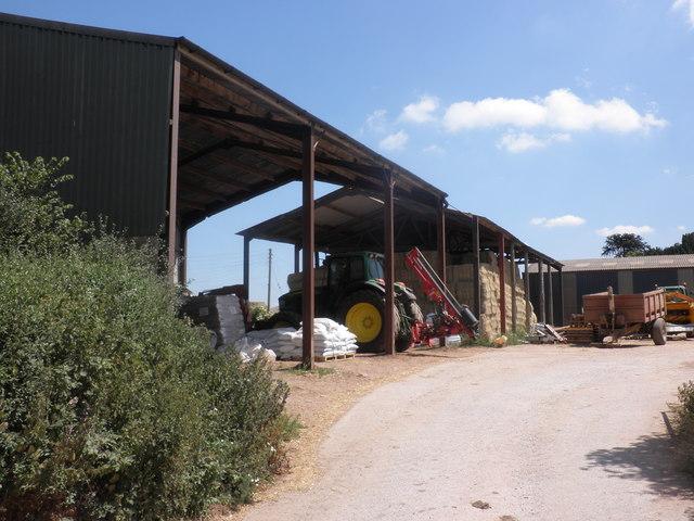 Hay barns, at Uton Barton
