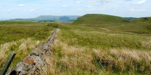 Dry-stone wall beside the Fyn Loch