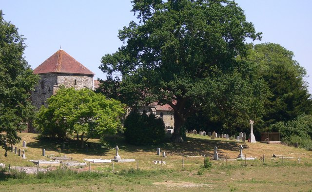 Bepton church and churchyard seen from Bugshill Lane