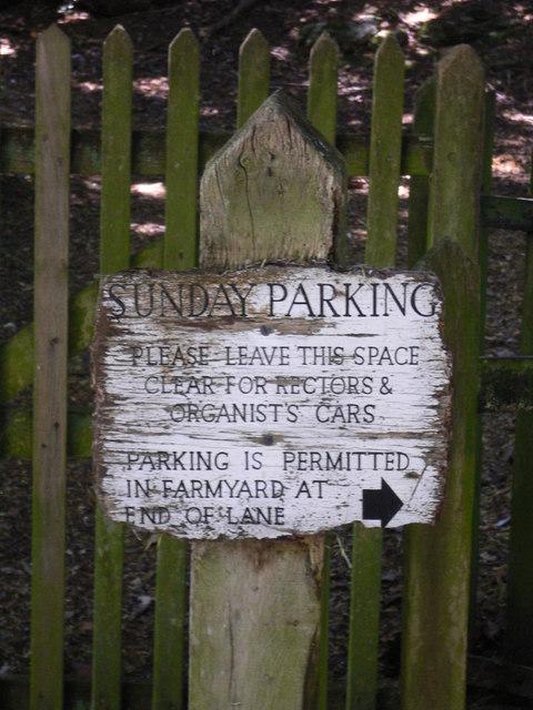 Notice at lay by near Bepton church
