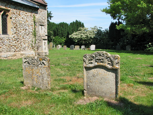The church of SS Peter and Paul in Shernborne - churchyard