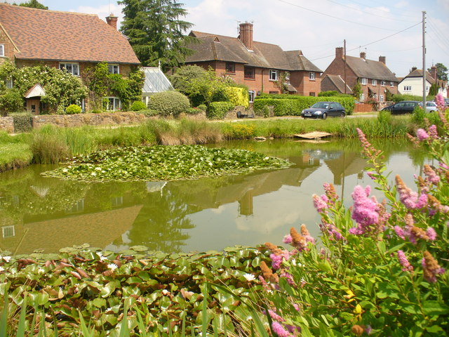 Pond and Cottages, Dunsfold Green