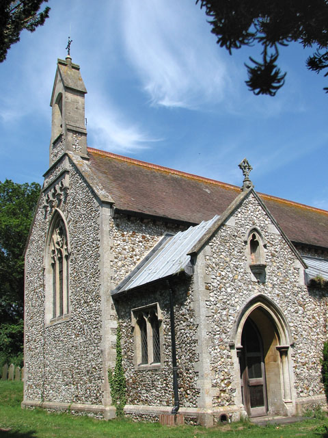 The church of SS Peter and Paul in Shernborne - the west end