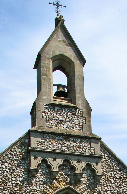 The church of SS Peter and Paul in Shernborne - bell turret