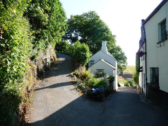 Junction of lane and track, Ringmore