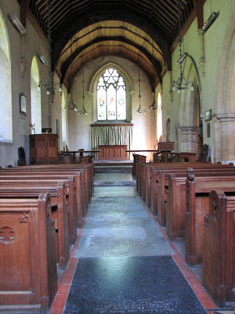 The church of SS Peter and Paul in Shernborne - view east
