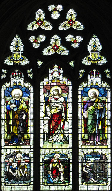 The church of SS Peter and Paul in Shernborne - east window