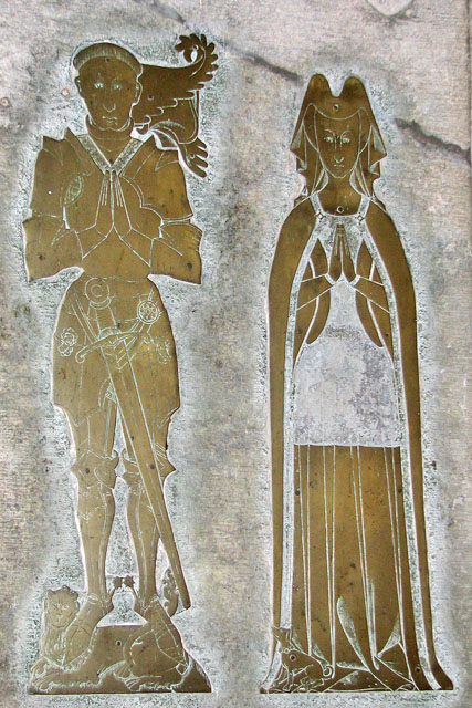The church of SS Peter and Paul in Shernborne - figure brass