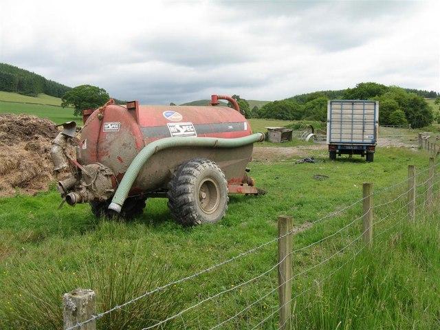 Farm machinery at Leithenhall