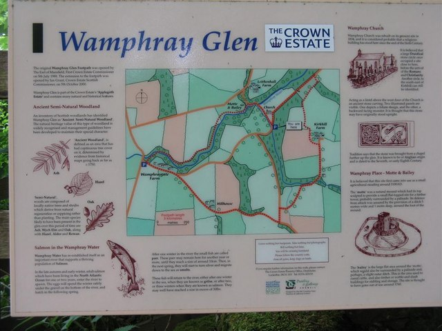 Wamphray Glen information board