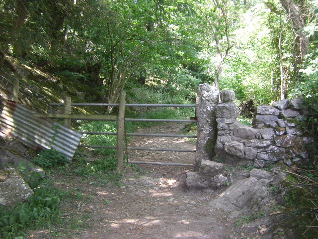 Gate on path from Hollins Lane to Jenny Brown's Point
