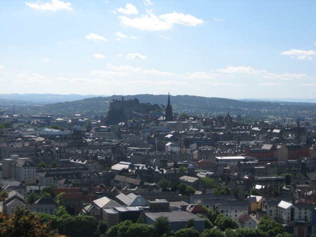 From Salisbury Crags towards the Castle