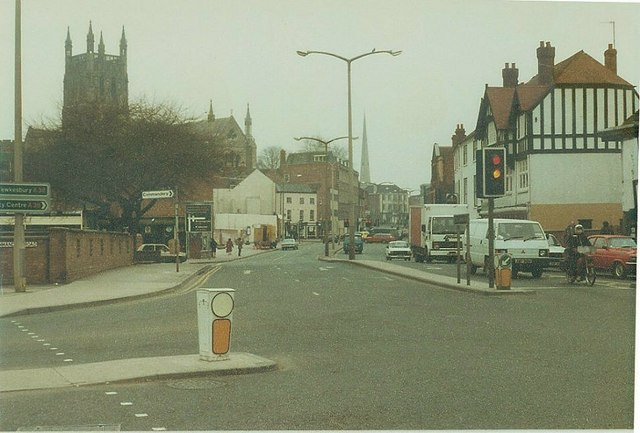 London Road (A44), Worcester in 1984
