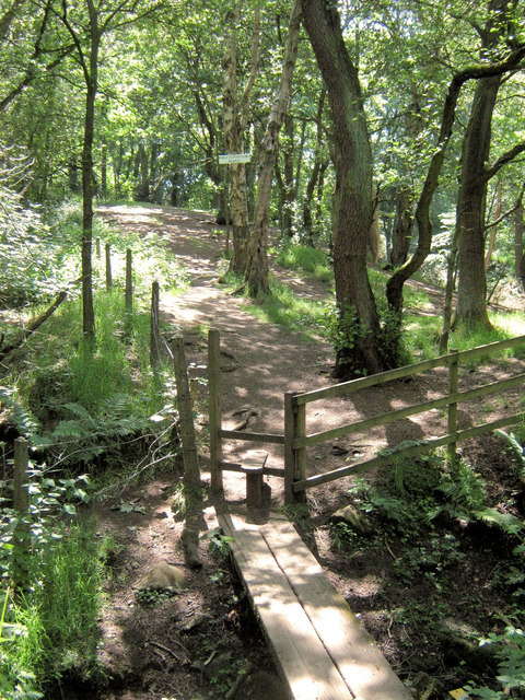 Bridge and stile in to Coppice Wood