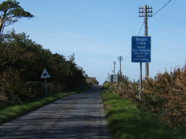 B8016  north, to Bowmore