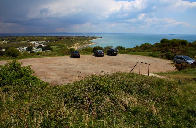 The car park at Culver Battery