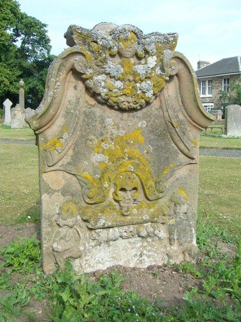 18thC tombstone, Aberlady kirkyard