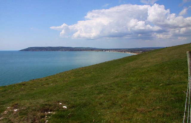 Looking across Culver Down to Sandown Bay
