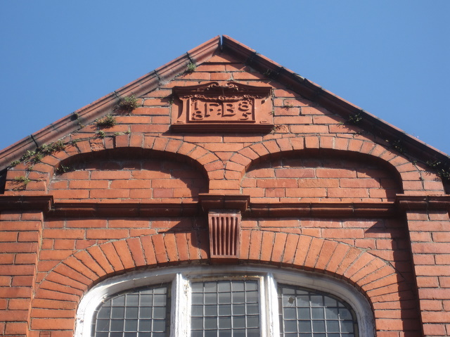Date and initials on White Friars Lodge gable