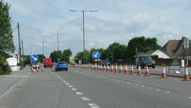 Roadworks on the A38, Patchway