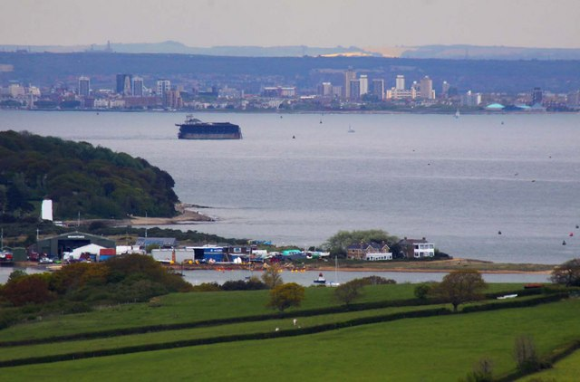 Bembridge Harbour from Culver Down