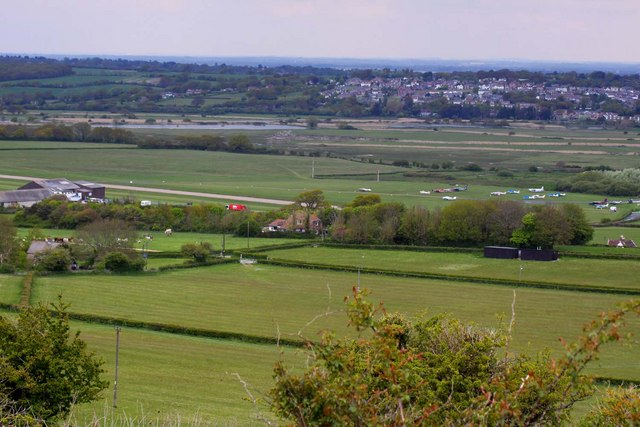 Bembridge Airport from Culver Down