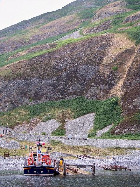 Girvan Lifeboat At Ailsa Craig Jetty