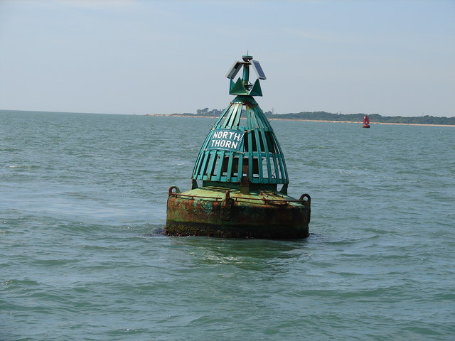 North Thorn starboard channel buoy