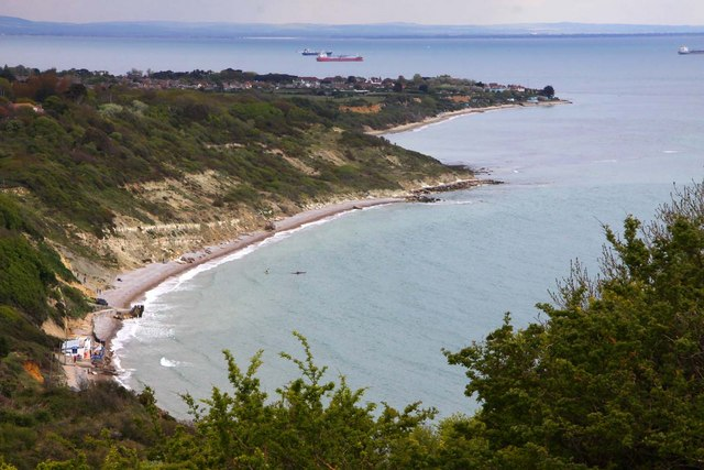 Whitecliff Bay and Foreland from Culver Down