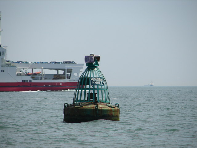 Thorn Knoll starboard channel buoy