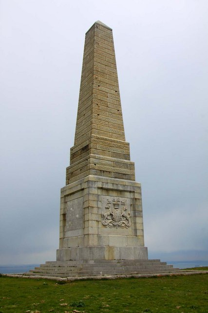 The Lord Yarborough monument on Bembridge Down