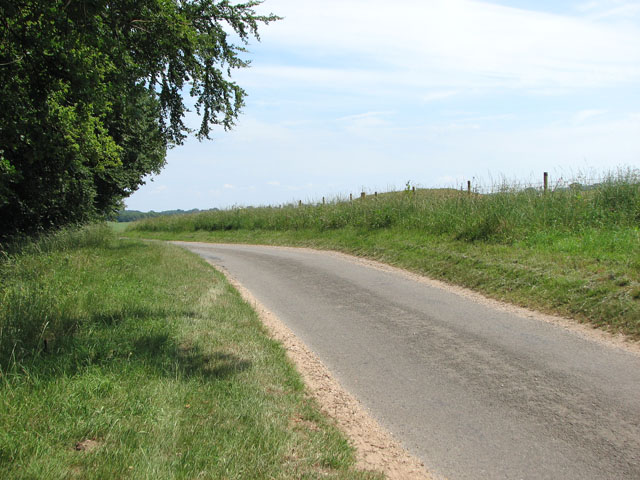 Unnamed lane to Anmer past Bunker's Hill